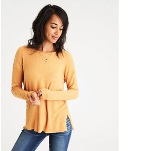 AEO Soft & Sexy Plush - Mustard Pullover